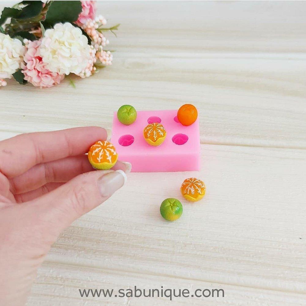 Minyatür Mandalina Ve Portakal Çoklu Silikon Kalıbı