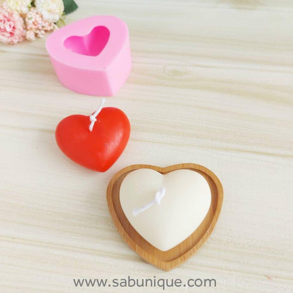Orta Boy Tombik Kalp Silikon Kalıbı