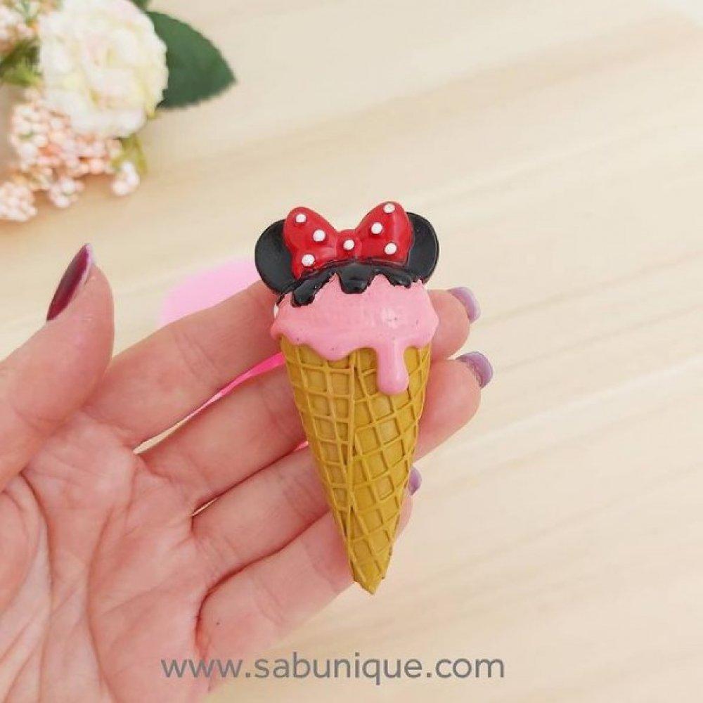 Minnie Mouse Külahta Dondurma Silikon Kalıbı
