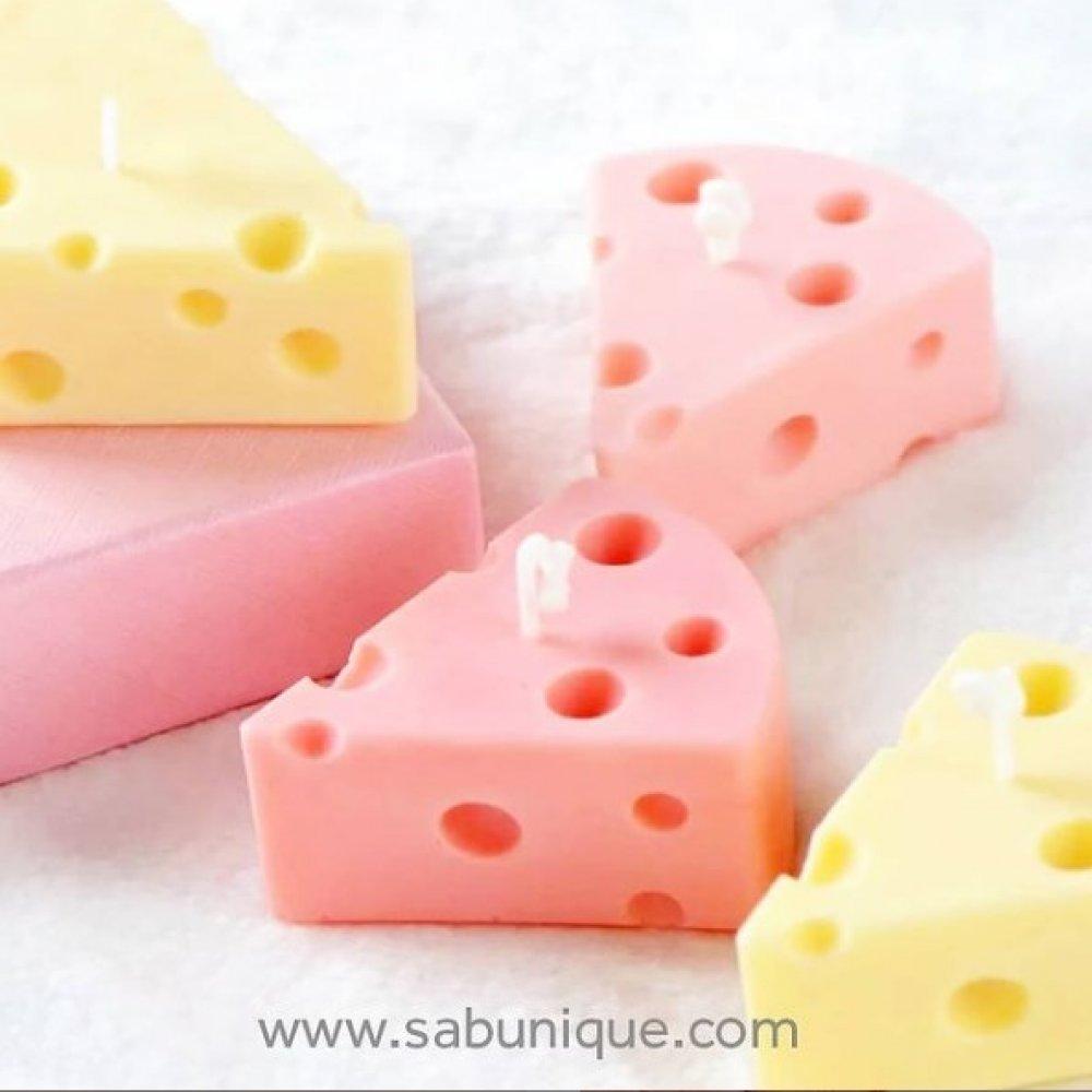 Delikli Peynir Mum 7 cm x Silikon Kalıbı