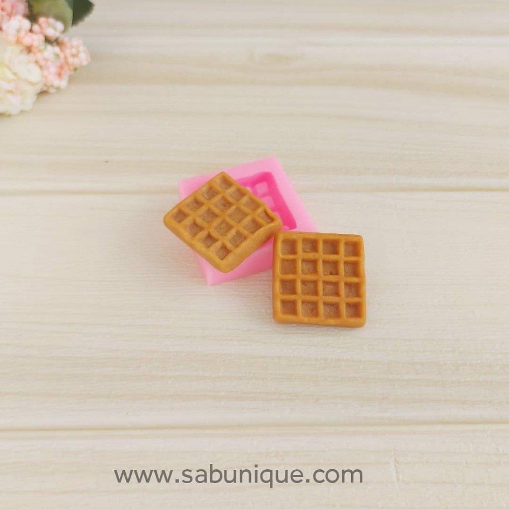 Kare Küçük Waffle Silikon Kalıbı