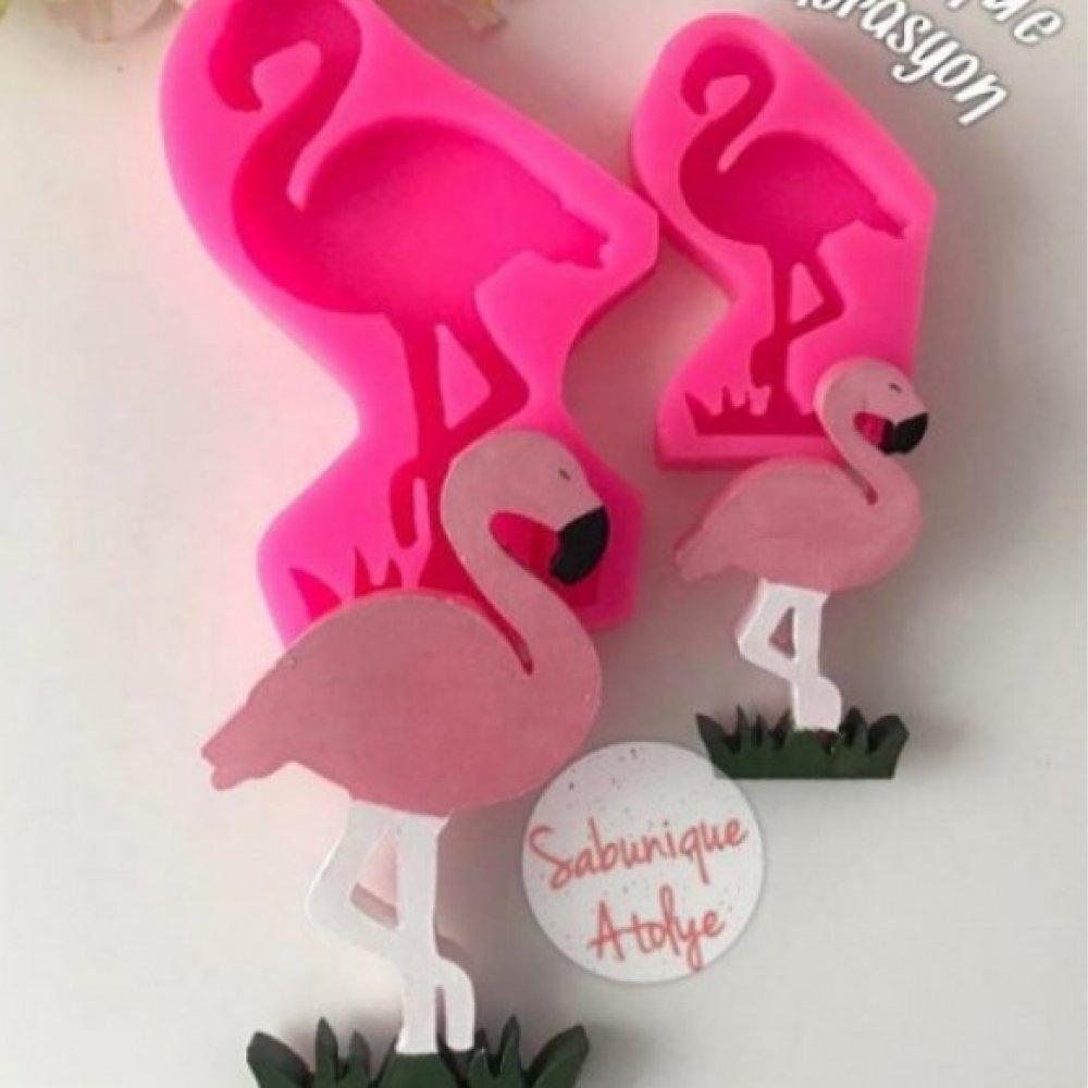 CS - Büyük - Küçük Flamingo Silikon Kalıbı