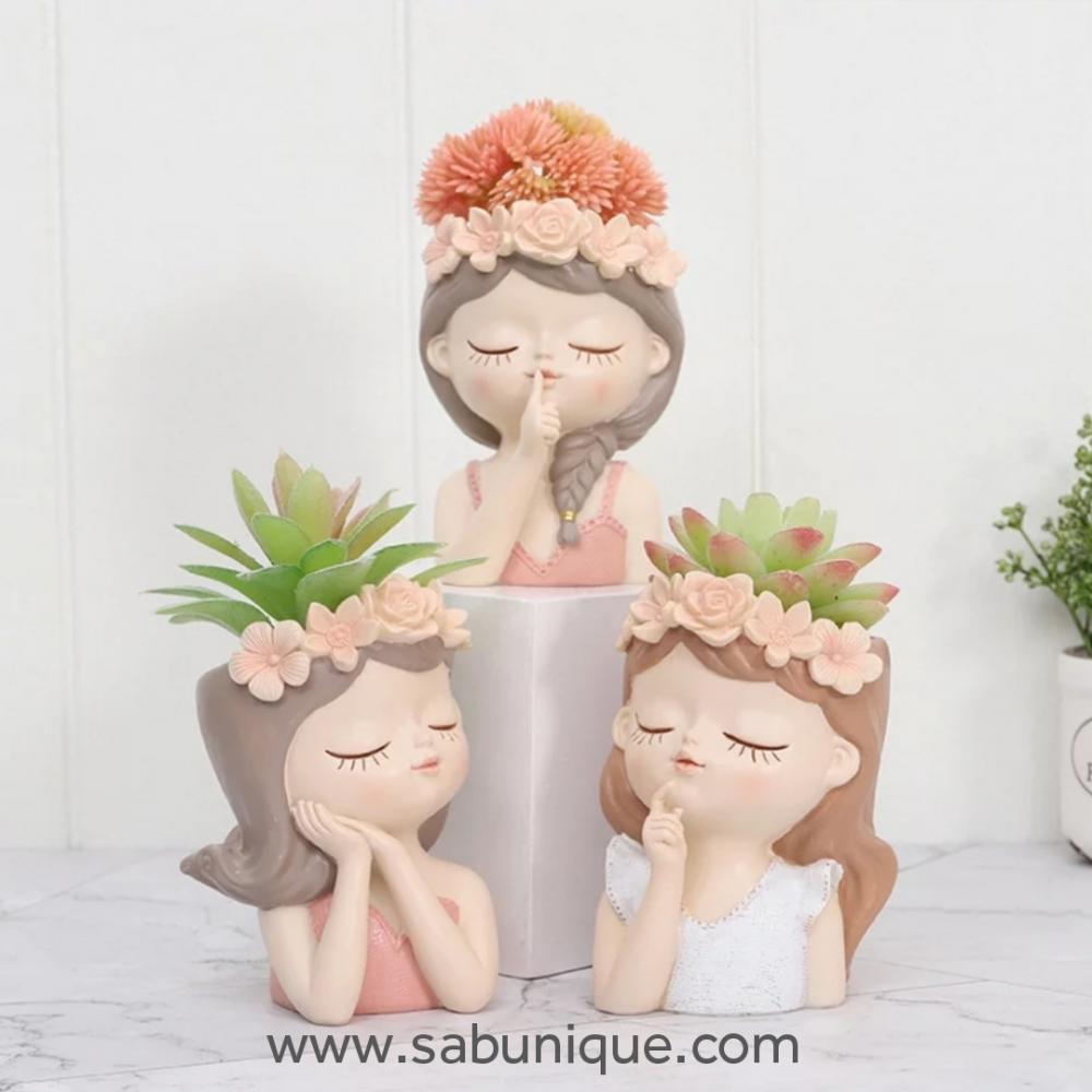 Çiçek Kızlar Saksı Silikon Kalıpları
