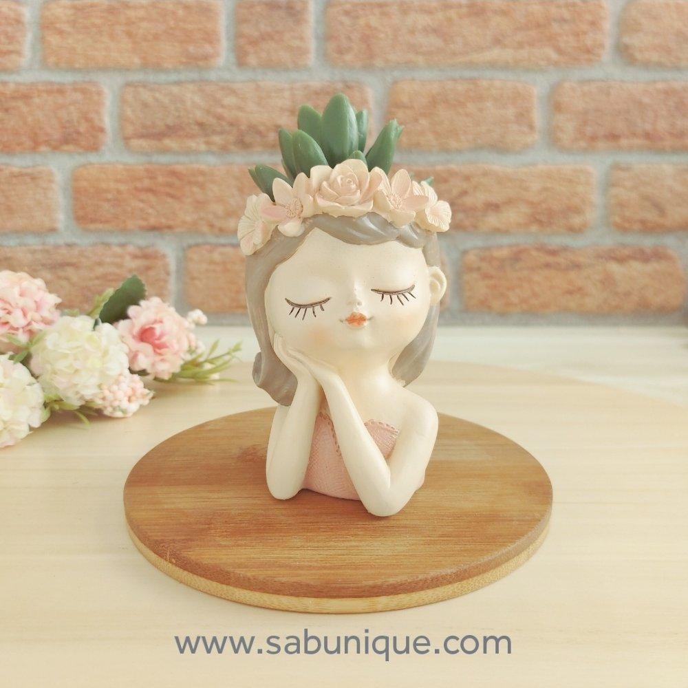 Çiçek Kız Saksı ( 2 ) Silikon Kalıbı