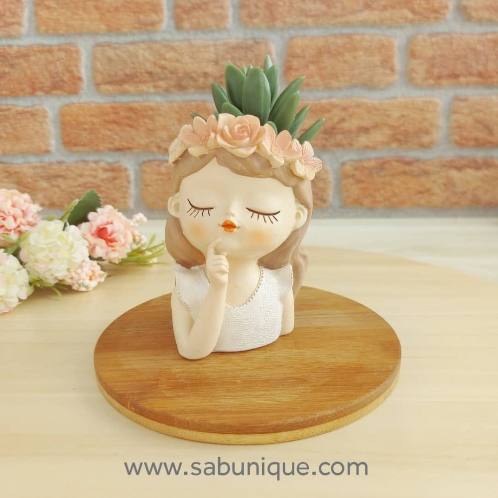 Çiçek Kız Saksı  ( 3 ) Silikon Kalıbı