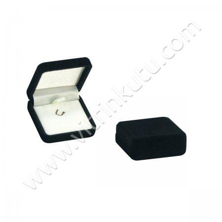 Mini Kolye Rozet Kutusu  4x4 cm Kadife Flok