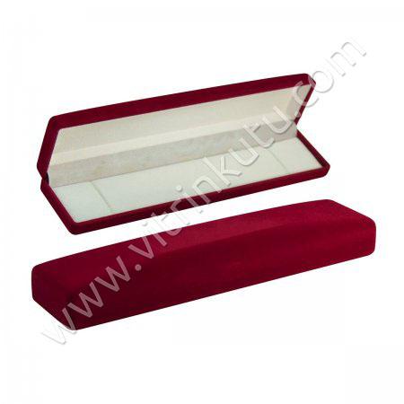 Flok Bileklik Takı Kutusu  Geniş  9x21 cm  Kadife