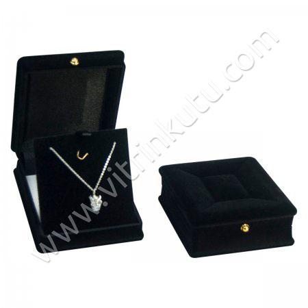 Lahit Üçlü Takım Set Kutusu 7x5 cm Kadife Flok