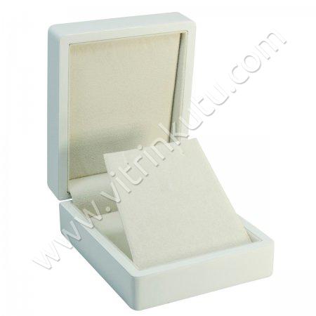 Küpe Takı Kutusu 9x11 cm Ahşap Beyaz