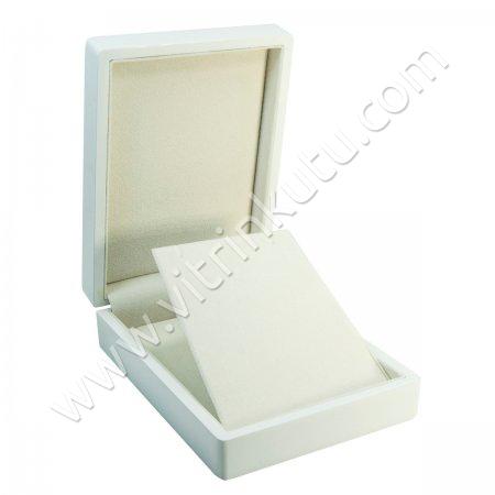Küpe Kolye Takı Kutusu 11x15 cm Ahşap