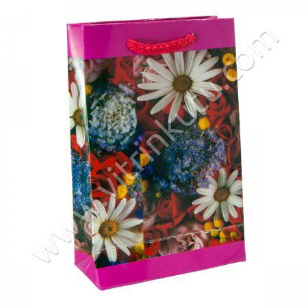 Karton Çanta 11x17 cm  İp Saplı  12'li Paket