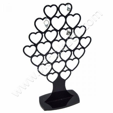 Gurup Küpe Standı 23 Çiftli Siyah Ağaç