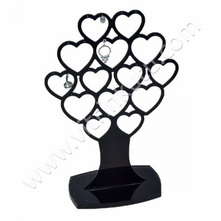 Çoklu Küpe Standı 14 Çiftli Siyah Ağaç