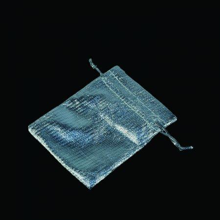 Lame Takı Kesesi 7x9 cm Gümüş 100'lü Paket