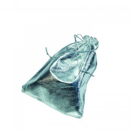 Lame Takı Kesesi 12x14 cm Gümüş 100'lü Paket