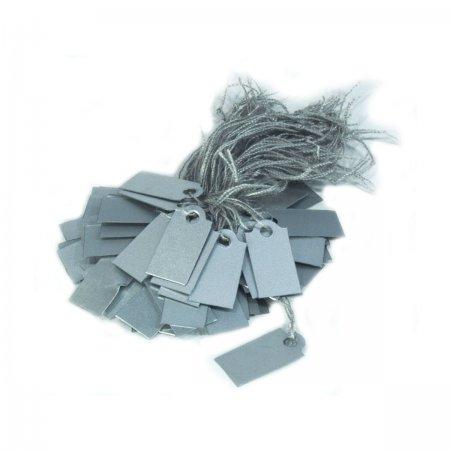 İpli  Fiyat Etiketi Silver Rengi 2x1 cm Plastik 80 Adet