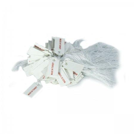 İpli Fiyat Etiketi Made In Turkey Baskılı 2x1 cm Karton 80 Adet