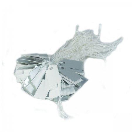 İpli Fiyat Etiketi Gümüş Beyaz 2x1 cm Karton  80 Adet