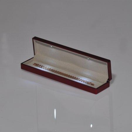 Işıklı Bileklik Kutusu  23x5 cm Bordo
