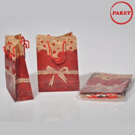 PVC Çanta 12x17 cm Hediyelik 12'li Paket