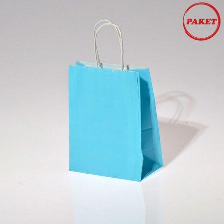 15x20 Büküm Saplı Düz Renk Mini Boy Karton Çantaları