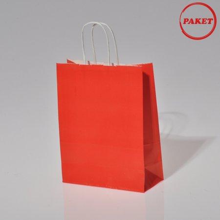 18x24 Büküm Saplı Düz Renk Orta Boy Karton Çantaları