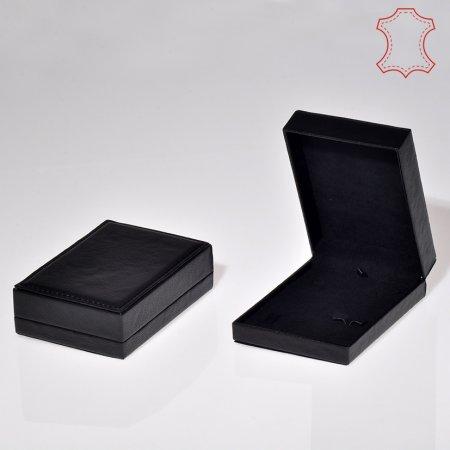 Deri Set Takı Kutusu 10x15 cm Üzeri Dikişli