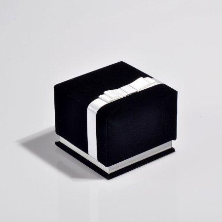 Kelepçe Takı Kutusu  9.5x9.5 cm Kurdele Kuşaklı