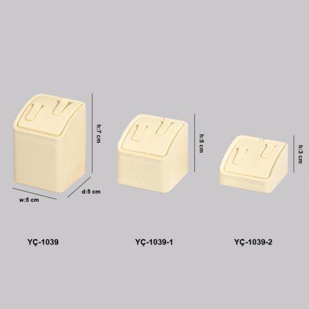 YC-1039 Mücevherat Vitrin Kare Çift Alyanslık 3 Boy