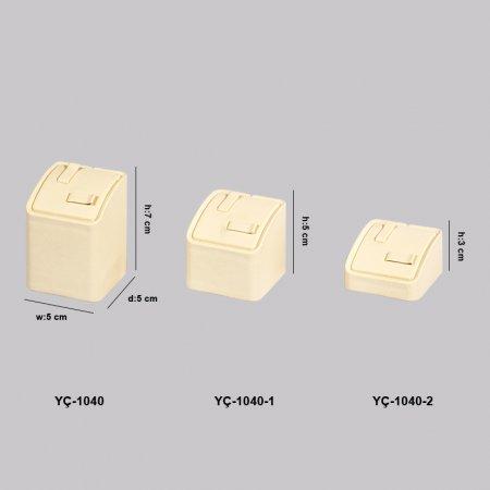 YC-1040 Vitrin Kare Çift Alyanslık Çapraz Tırnaklı 3 Boy
