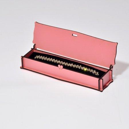 Lazer Kesim Çocuk Bileklik Takı Kutusu 16x5 cm