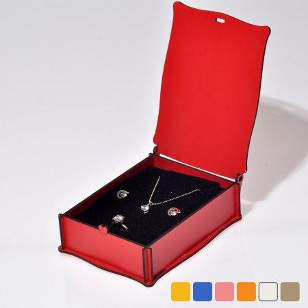 Lazer Kesim Ahşap Pan Set Takı Kutusu  10x14 cm