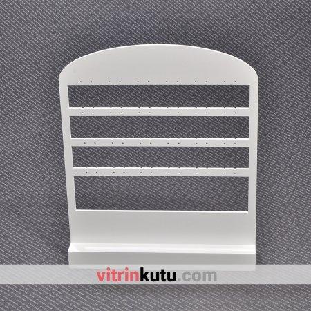 Küpe Takı Standı 24x29 cm Ahşap  Cilalı Beyaz