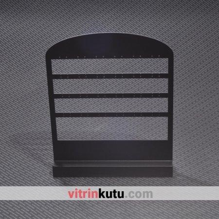 Küpe Takı Standı 24x29 cm Ahşap  Cilalı Siyah