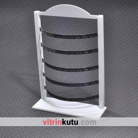 Küpe Takı Standı 57 Çift Ayarlanabilir Siyah Pleksi