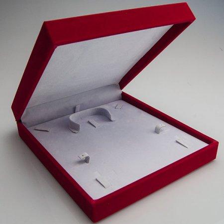 Set Takı Kutusu 19x19 cm Flok Kadife