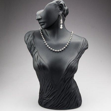 Takı Mankeni Büst Polyester Siyah