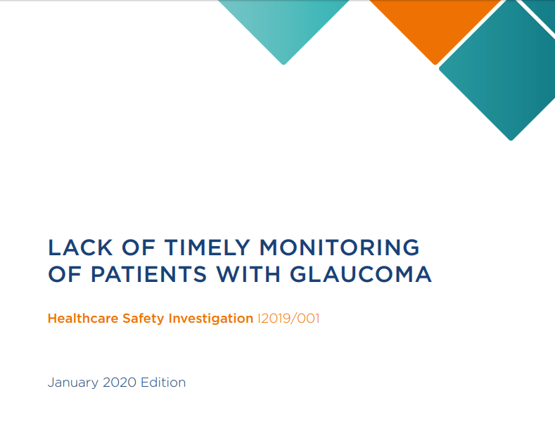 Response to HSIB Investigation: Lack of timely monitoring of patients with glaucoma