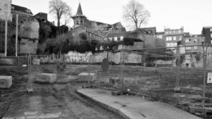 Projectsite, zicht vanaf de boulevard Sauvenière
