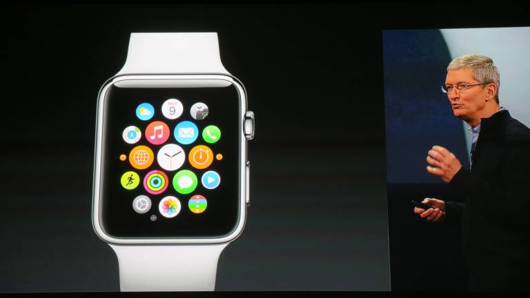 Tim Cook bei der Präsentation der Apple Watch