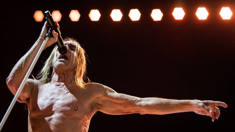 """Post Pop Depression Tour"": Iggy Pop beim Konzert in Berlin am 7.Mai im Tempodrom"