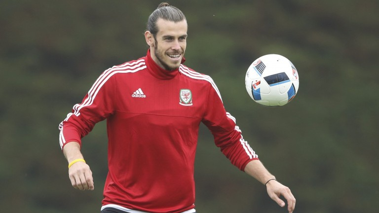 Superstar Gareth Bale aus Wales beim Training
