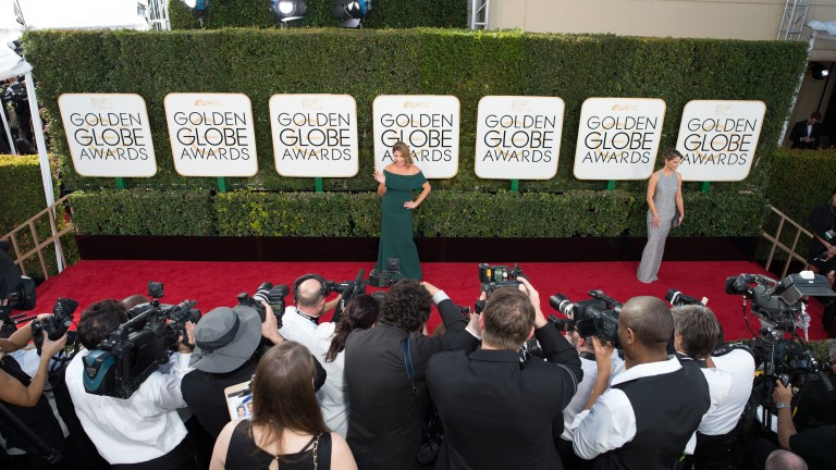 Fotografenstau am Roten Teppich bei den Golden Globe Awards 2017.