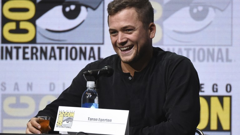 Taron Egerton attends the 20th Century Fox panel on day 1 of Comic-Con International on Thursday, July 20, 2017, in San Diego. (Photo by Richard Shotwell/Invision/AP) |