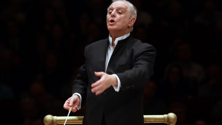 Daniel Barenboim leads the Staatskapelle Berlin in the opening concert of Bruckner's Symphony Circle (all 9 of them will be performed in 9 separate concerts from January 19 until 29) at Carnegie Hall on Thursday night, January 19, 2017. This image: Daniel Barenboim leads the Staatskapelle Berlin in Bruckne's 'Symphony No. 1.'  (Photo by Hiroyuki Ito/Getty Images)  .  *** Local Caption *** 2.695082659