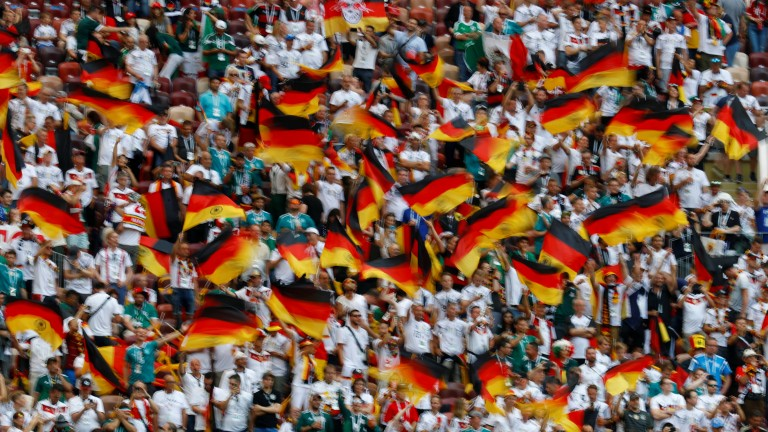 Soccer Football - World Cup - Group F - Germany vs Mexico - Luzhniki Stadium, Moscow, Russia - June 17, 2018   Germany fans before the match    REUTERS/Kai Pfaffenbach