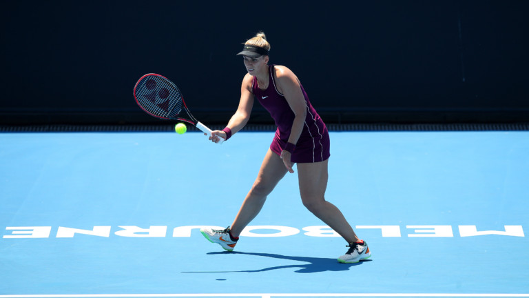 MELBOURNE, AUSTRALIA - JANUARY 08:  Sabine Lisicki of Germany hits a forehand in her match against Isabelle Wallace of Australia during day one of Qualifying for the 2019 Australian Open at Melbourne Park on January 08, 2019 in Melbourne, Australia. (Photo by Graham Denholm/Getty Images) *** Local Caption *** 2.1091153162