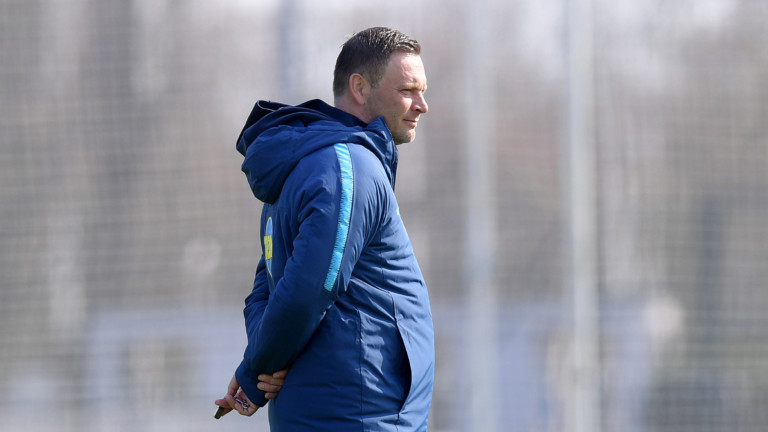 Coach Pal Dardai beim Hertha-Training am 2. April