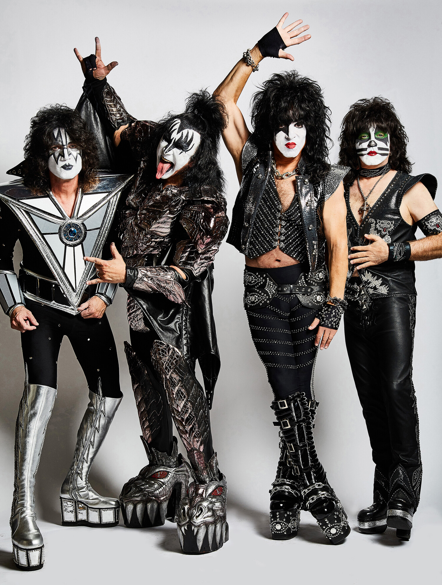 Kiss: Tommy Thayer, Gene Simmons, Paul Stanley und Eric Singer (v.l.) (Foto: picture alliance/dpa)