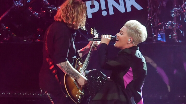 Pink in concert at the Principality Stadium, Cardiff, Wales, UK on the first night of her UK leg of the Beautiful Trauma World Tour. Pink whose was born Alecia Beth Moore heads off to Glasgow for the next leg of the tour  